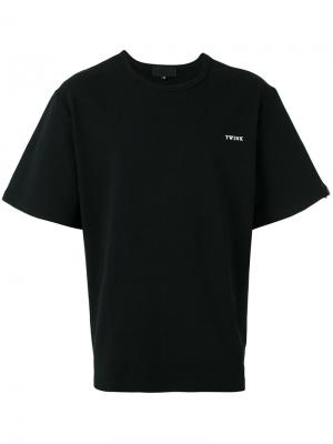 Широкая футболка Xander Zhou. Цвет: чёрный