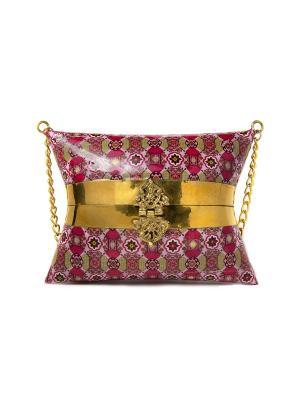Сумка-клатч ручной работы из металла, Розовая Indira. Цвет: красный