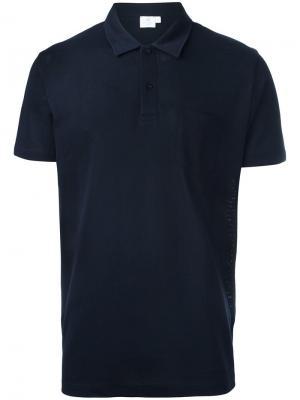 Классическая рубашка-поло Sunspel. Цвет: синий