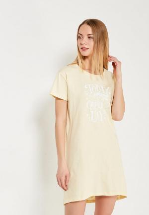 Сорочка ночная Modis. Цвет: желтый