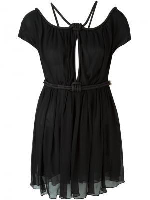 Платье с веревочной отделкой Jay Ahr. Цвет: чёрный