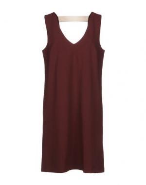 Короткое платье ..,MERCI. Цвет: красно-коричневый