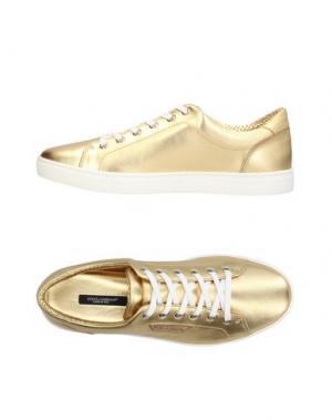 Низкие кеды и кроссовки DOLCE & GABBANA. Цвет: золотистый