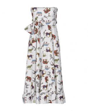 Платье длиной 3/4 MARIUCCIA. Цвет: белый