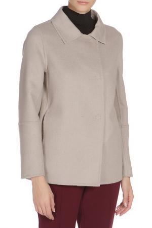Свободное пальто с застежкой на кнопки Cinzia Rocca. Цвет: кофейный