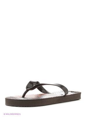 Пляжная обувь детская Mon Ami. Цвет: коричневый