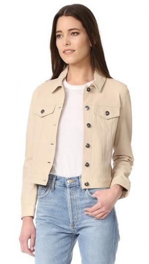 Кожаная куртка June. Цвет: коричневый