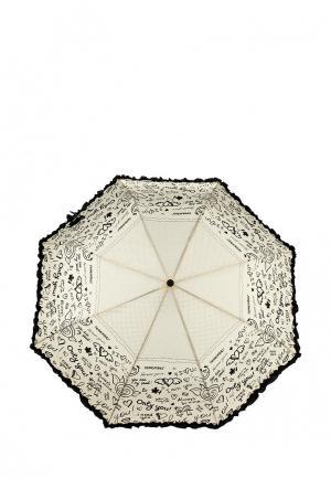 Зонт складной Flioraj. Цвет: бежевый