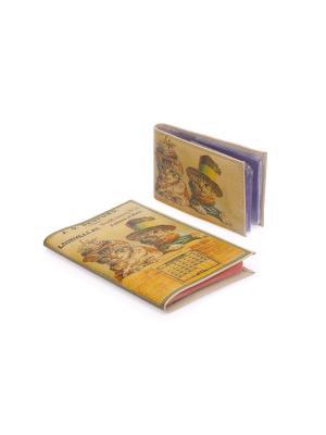 Комплект Ретро коты (Обл.на паспорт+визитница) Eshemoda. Цвет: коричневый