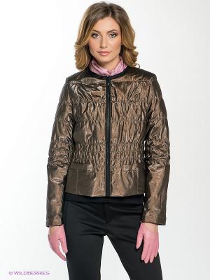 Куртка DEA Maritta. Цвет: коричневый