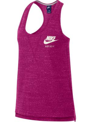 Топ W NSW GYM VNTG TANK Nike. Цвет: фуксия
