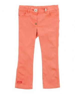 Джинсовые брюки PHILIPP PLEIN. Цвет: коралловый