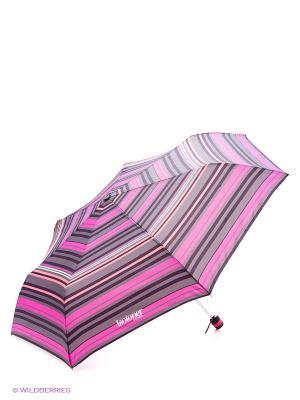 Зонт Isotoner. Цвет: малиновый, коралловый, белый, темно-серый