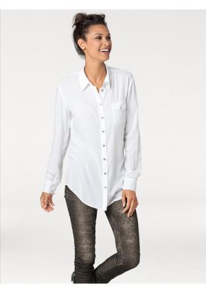 Удлиненная блузка B.C. BEST CONNECTIONS by Heine. Цвет: белый