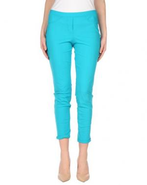 Повседневные брюки 22 MAGGIO by MARIA GRAZIA SEVERI. Цвет: бирюзовый