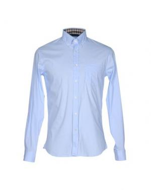 Pубашка AQUASCUTUM. Цвет: небесно-голубой