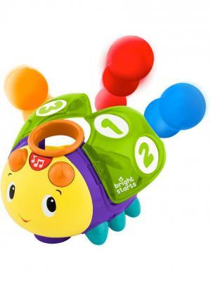 Развивающая игрушка Жучок 1-2-3 BRIGHT STARTS. Цвет: голубой, красный, желтый, зеленый