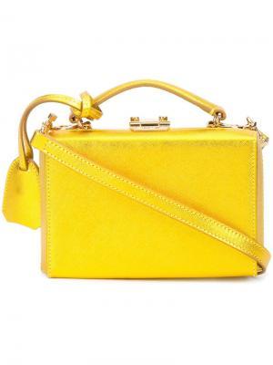 Мини сумка  Grace Mark Cross. Цвет: металлический