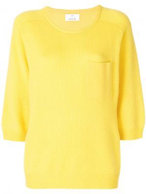 Джемпер с нагрудным карманом Allude. Цвет: жёлтый и оранжевый