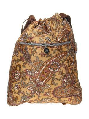 Рюкзак Infiniti. Цвет: горчичный, коричневый