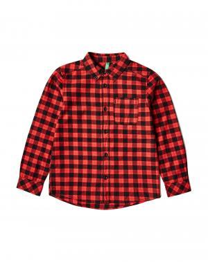Рубашка Benetton. Цвет: красный