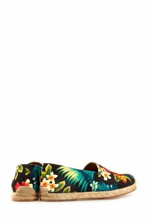 Хлопковые эспадрильи Mom and Dad Flat Toile Hawaii Christian Louboutin. Цвет: multicolor