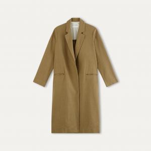 Пальто летнее длинное POMANDERE. Цвет: бежевый