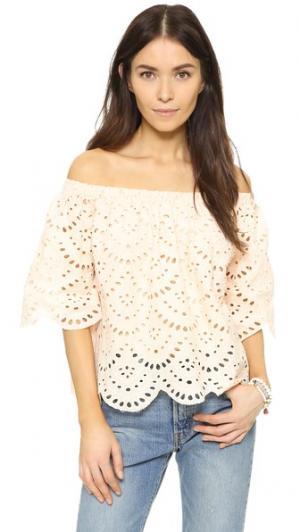 Блуза Hunter с открытыми плечами Ministry of Style. Цвет: сумерки