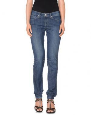 Джинсовые брюки MER DU NORD. Цвет: синий