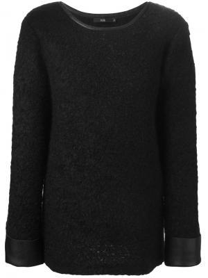 Вязаный свитер из букле Stills. Цвет: чёрный