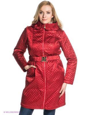 Пальто X'cluSIve. Цвет: красный