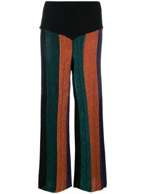 Расклешенные брюки в полоску Circus Hotel. Цвет: многоцветный