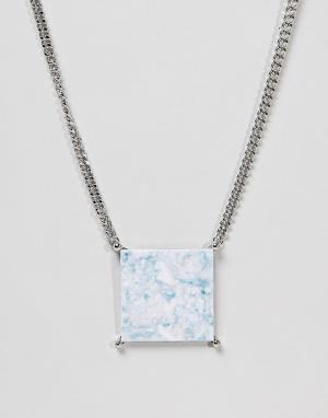 ASOS Эффектное ожерелье. Цвет: серебряный