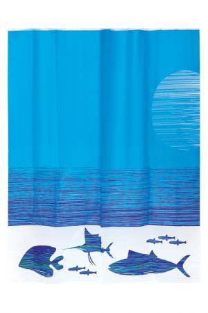 Штора для ванной комнаты WESS. Цвет: синий