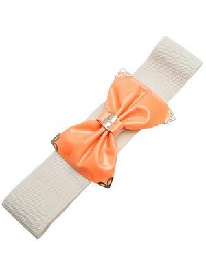 Пояс/ремень Стрейч с декоративной пряжкой City Flash. Цвет: молочный, золотистый, оранжевый