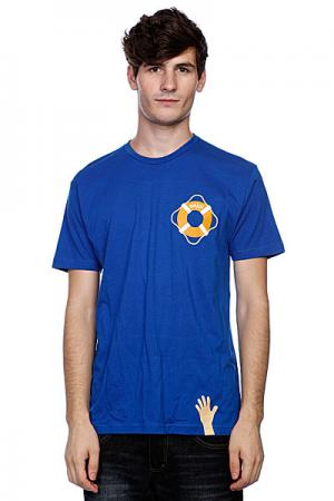 Футболка  Lifesaver Premium Royal Enjoi. Цвет: синий