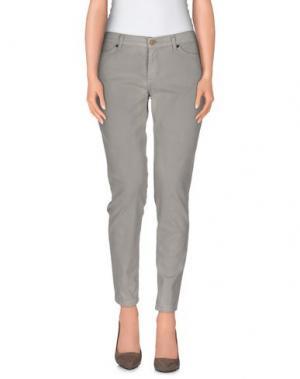 Повседневные брюки SUPERFINE. Цвет: светло-серый