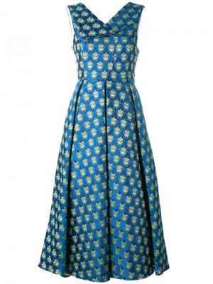 Платье с принтом лягушек Ultràchic. Цвет: синий