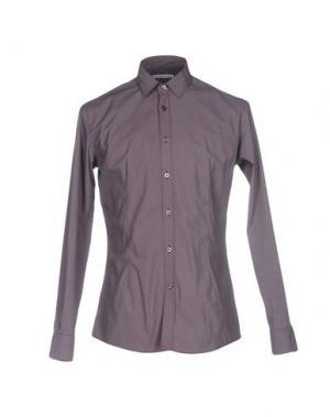 Pубашка GREY DANIELE ALESSANDRINI. Цвет: красно-коричневый