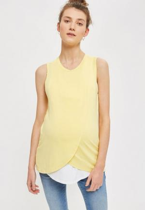 Майка Topshop Maternity. Цвет: желтый