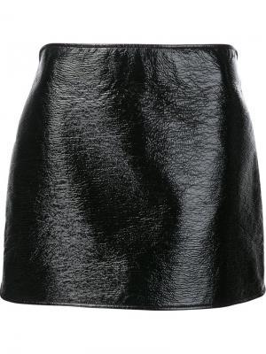 Прямая юбка мини Courrèges. Цвет: чёрный