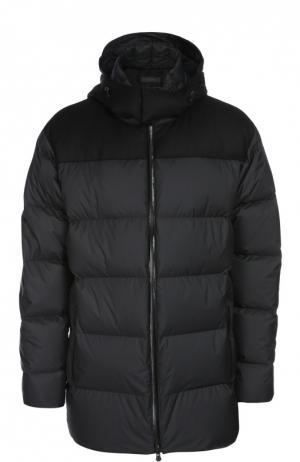Куртка с капюшоном Z Zegna. Цвет: черный