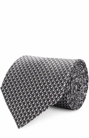 Комплект из шелкового галстука и платка Lanvin. Цвет: серый