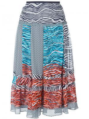 Юбка New Pattern Dvf Diane Von Furstenberg. Цвет: многоцветный