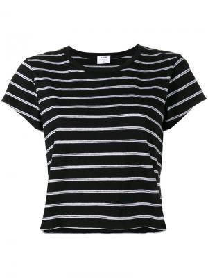 Полосатая футболка прямого кроя Re/Done. Цвет: чёрный