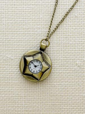Кулон-часы Звезда в круге Mitya Veselkov. Цвет: бронзовый