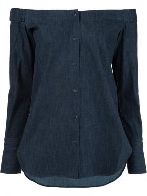 Рубашка с приспущенными плечами Rag & Bone. Цвет: синий