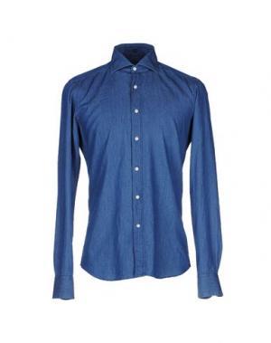 Джинсовая рубашка FAY. Цвет: синий