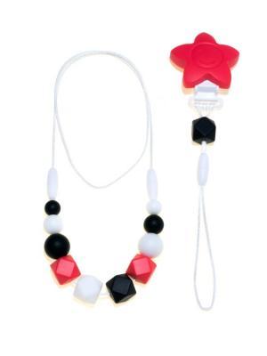 Украшение 3-в-1 Метаморфоза Малевич (бусы, браслет, держатель для соски) iSюминка. Цвет: красный, белый, черный