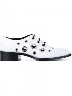 Туфли с люверсами Proenza Schouler. Цвет: белый